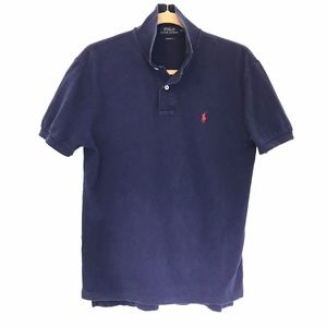 Polo Ralph Lauren* Navy Blue Polo Shirt Red Pony